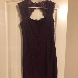 Adrianna Papell Purple Lace Dress